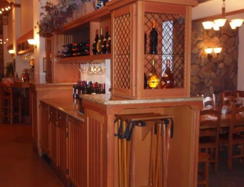 Olive Garden Wine Hutch